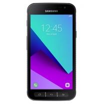 Vitre tactile noire Galaxy Xcover 4 G390F montée sur le Smartphone