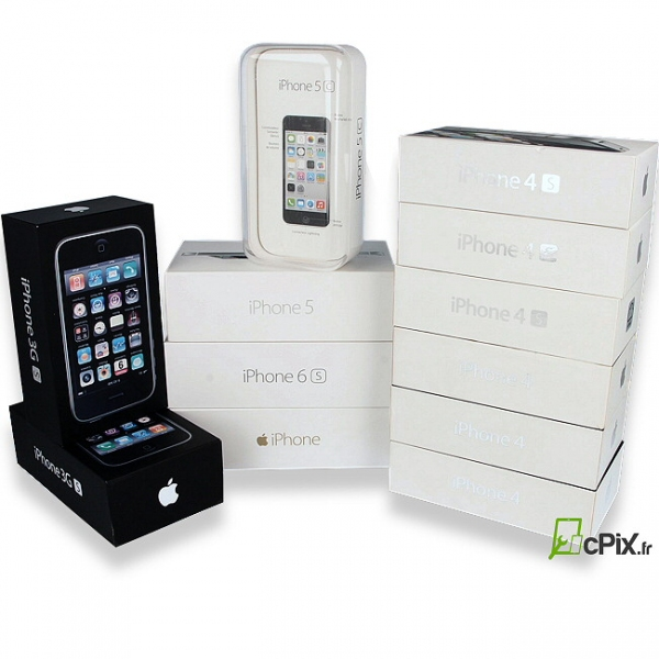lot 12 boites rangement iphone origine apple d 39 occasion. Black Bedroom Furniture Sets. Home Design Ideas