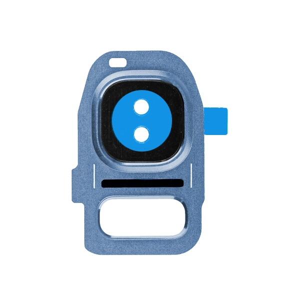 Galaxy S7 et S7 Edge : Support métal pour lentille appareil photo arrière BLEU