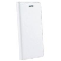 iPhone 7 : Etui rabat blanc simili cuir - accessoire