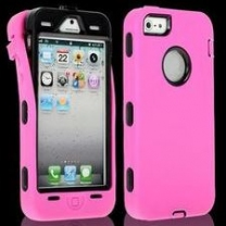 iPhone 5 : Coque anti-choc -rose