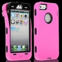 iPhone 5 : Coque anti-choc -rose