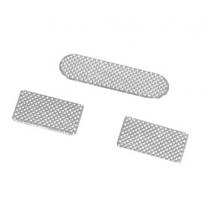 iPhone 4 / 4S : Lot de 3 Grilles anti-poussières (2 bas + 1 écouteur) - pièce détachée