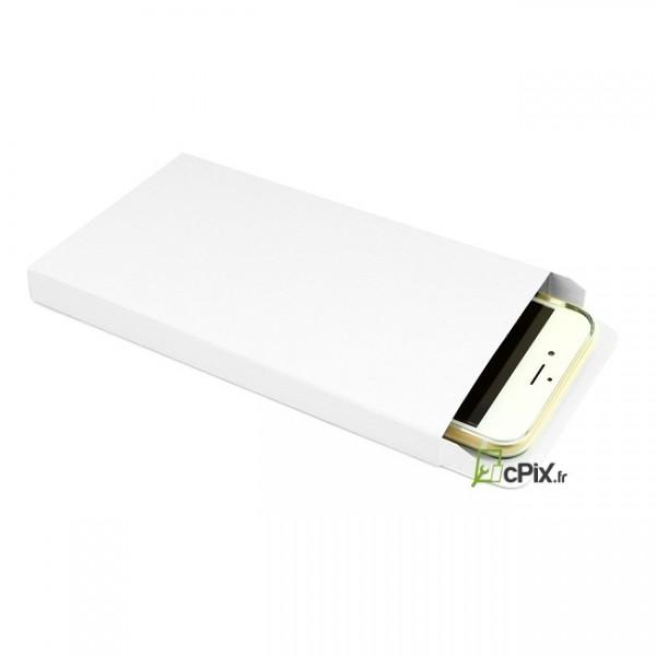 Boite de rangement Blanche avec son smartphone ranger à l'intérieur