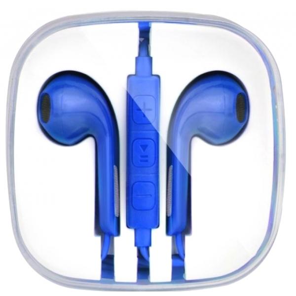 ecouteurs bleu pour iphone avec prise jack kit main libre pas cher. Black Bedroom Furniture Sets. Home Design Ideas
