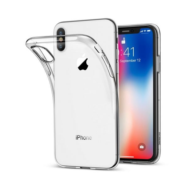 iPhone X : Coque silicone gel transparente souple