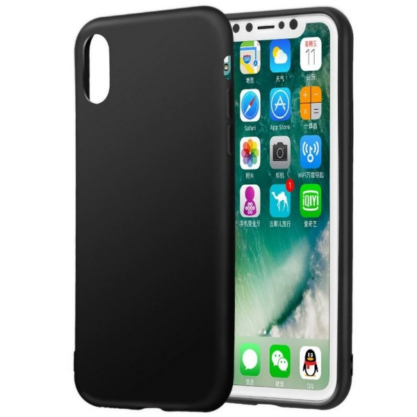 coque silicone tpu fine gel noire souple protection iphone x