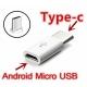 Adaptateur micro USB vers USB-C