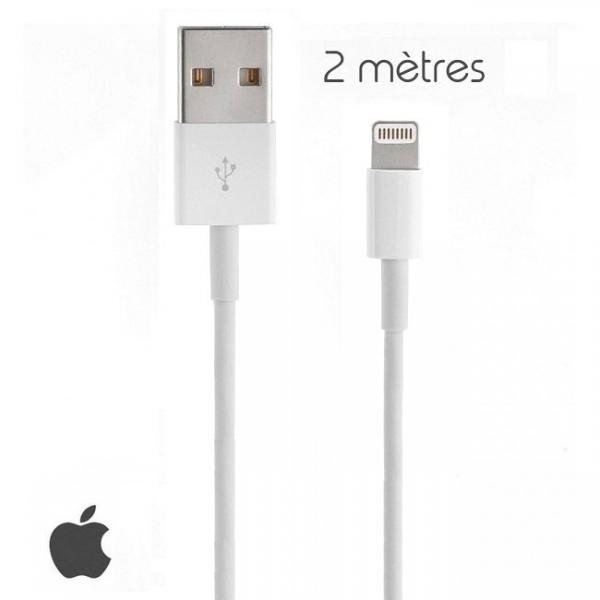 Câble lightning USB Original Apple 2 mètres iPhone iPad