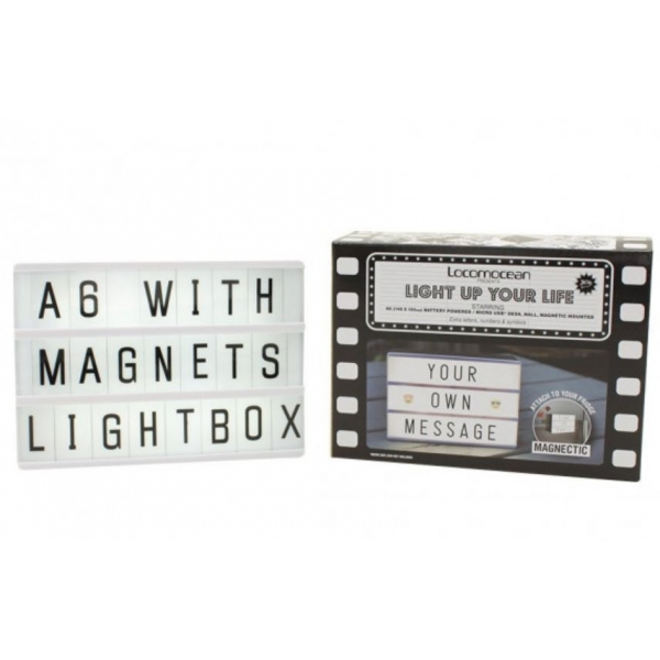 lightbox a6 boite messages lumineux. Black Bedroom Furniture Sets. Home Design Ideas