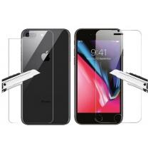 Verre trempé avant et arrière iPhone 8 Plus. Film de protection anti-casse