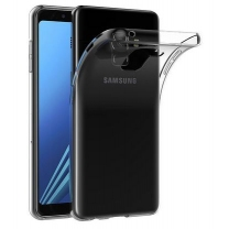 Coque TPU silicone Galaxy A8 2018 SM-A530F transparente, pas cher