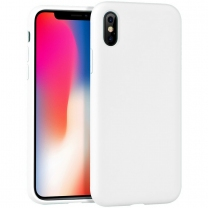 iPhone X : Coque silicone gel Blanc souple