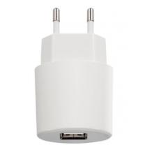 Adaptateur secteur USB Blanc 1A pour smartphone et tablette tactile