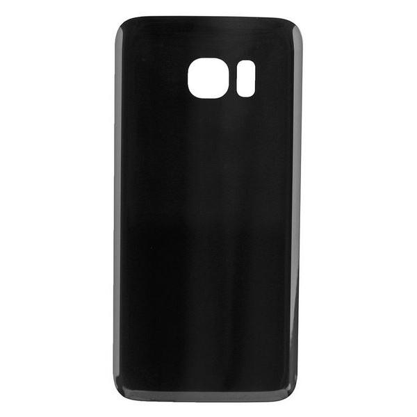 Vitre arrière noire pour Galaxy S7 Edge, pièce détachée de rechange.