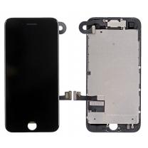 iPhone 7 : Complet Ecran Noir (LCD + vitre tactile + Caméra avant + Ecouteur + Nappe + Bouton Home assemblés)