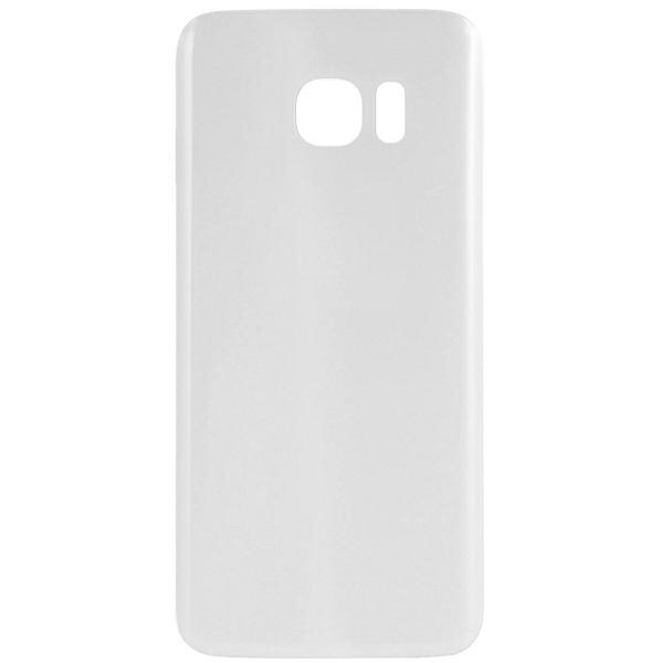 Coque vitre arrière Galaxy S7 Edge blanc, pièce détachée de rechange.