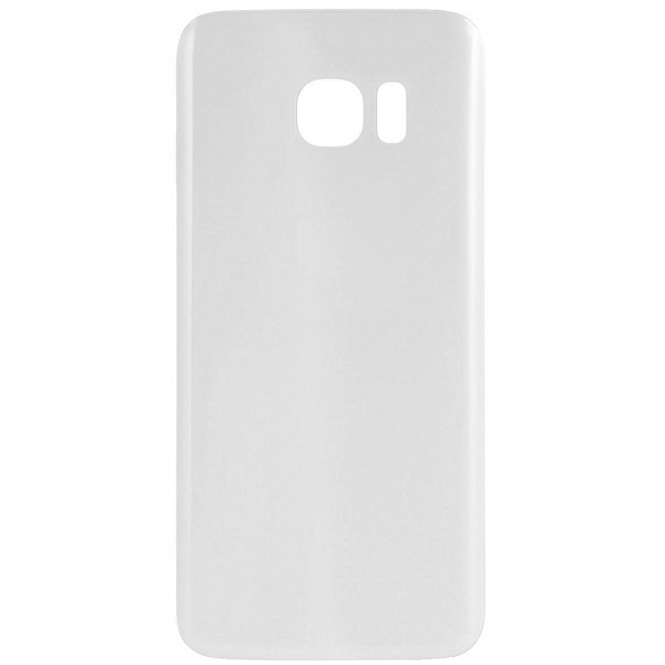 Coque vitre arrière Galaxy S7 blanc, pièce détachée de rechange.