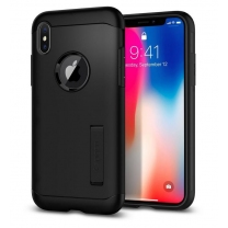 Coque Spigen iPhone X Slim Armor Gris. Protection anti-choc solide