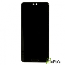 Ecran Huawei P20 noir. Pièce détachée LCD, vitre + batterie 02351WKF