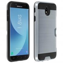 Galaxy J7 2017 (SM-J730F) : coque antichoc Defender Noir avec porte carte