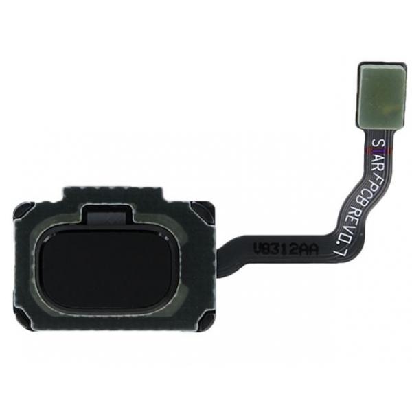 Lecteur empreintes Galaxy S9 et S9+. Bouton Home arrière noir
