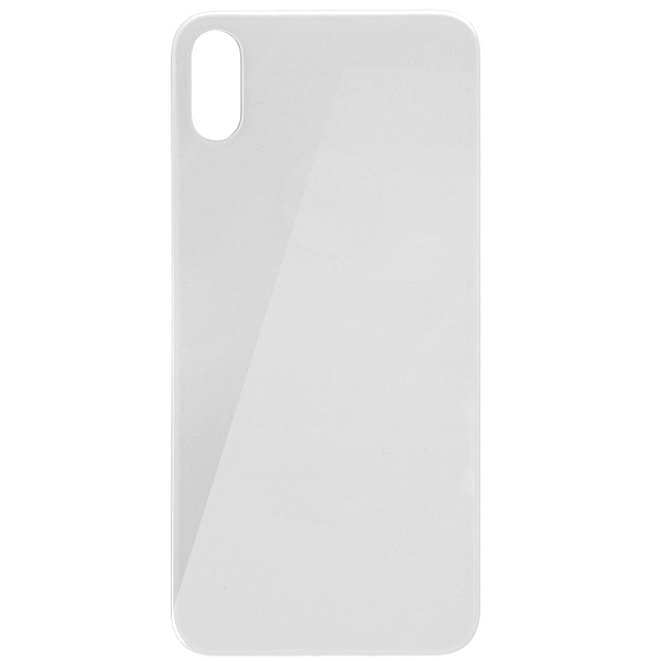 Vitre arrière iPhone X blanc, pièce détachée à changer le dos en verre