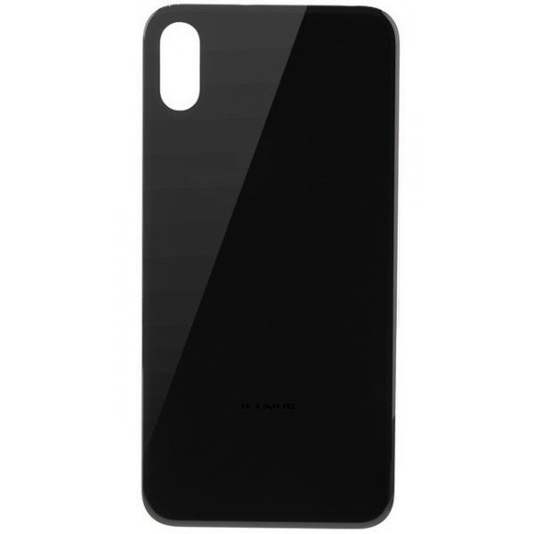 Vitre arrière iPhone X noire, pièce détachée de rechange en verre
