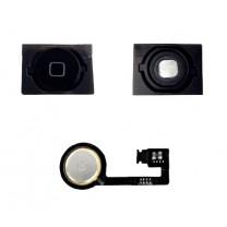 iPhone 4S : Lot Bouton home noir + Spacer adhésif + Nappe home - pièce détachée