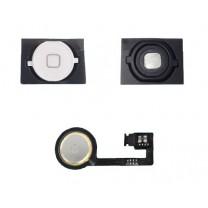iPhone 4S : Lot Bouton home blanc + Spacer adhésif + Nappe home - pièce détachée