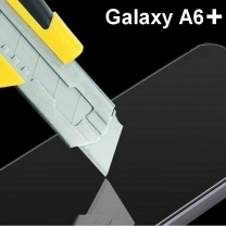 Protège-écran en verre trempé Galaxy A6+ pas cher, Pose sans bulle