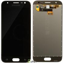 Galaxy J3 2017 (SM-J330F) : Ecran Noir + vitre tactile Officiel Samsung