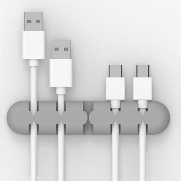 Support adhésif porte range câbles USB