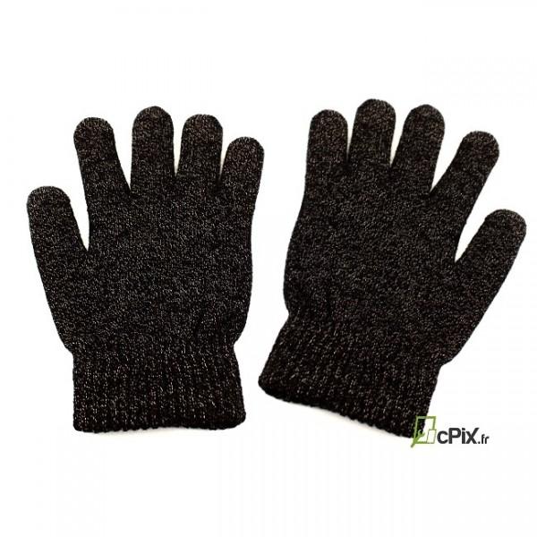 Paire de Gants noirs tactiles
