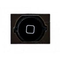 iPhone 4S : Bouton home noir avec joint adhésif spacer - pièce détachée