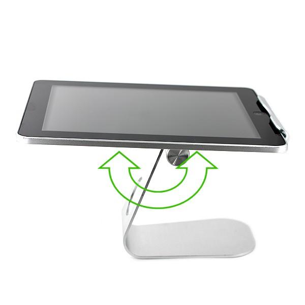 support universel ipad galaxy tab en aluminium neuf design pratique. Black Bedroom Furniture Sets. Home Design Ideas