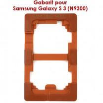 Samsung Galaxy S3 : Gabarit pour coller la vitre tactile sur l'écran LCD