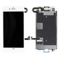 Dalle avant iPhone 8 blanc pré-assemblé, vitre + haut parleur + lcd