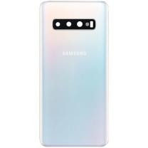 Façade verre dos Galaxy S10 blanc. Pièce détachée Samsung GH82-18378F
