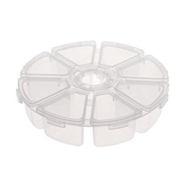 Boite de rangement ronde transparente