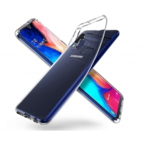Vente coque Galaxy A20E de protection silicone transparente
