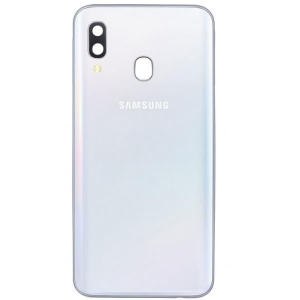 Coque arrière Galaxy A40 blanc pièce détachée Samsung GH82-19406B