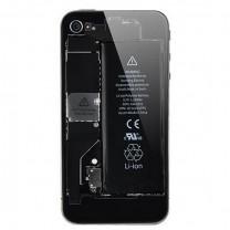 iPhone 4 : Vitre arrière transparente et noire - pas cher