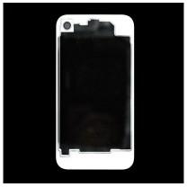 iPhone 4 : Vitre arrière transparente et blanche- pièce détachée