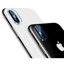Vente protection iPhone X, verre trempé appareil photo arrière