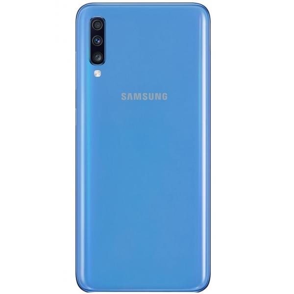 Coque arrière Galaxy A70 bleu, pièce détachée Samsung GH82-19467C