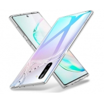 Vente coque Galaxy Note 10. Protection silicone transparente Toulouse