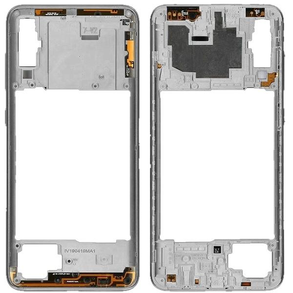 Vente cadre châssis Galaxy A70 Blanc de rechange Samsung GH97-23258B