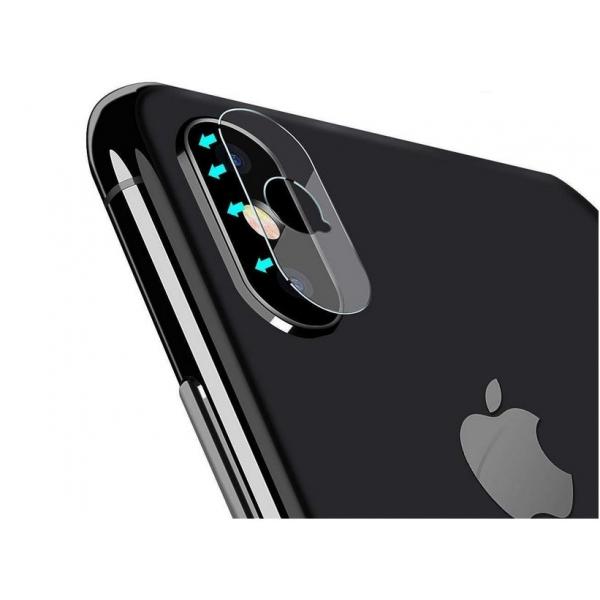 Vente verre trempé iPhone X, XS, Xs Max, protection rayures caméra arrière