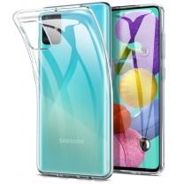 Vente coque Galaxy A51 transparente, protection en TPU silicone